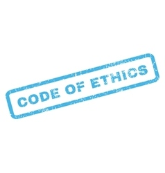 Code of ethics rubber stamp vector