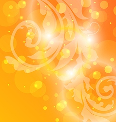 Damask ornamental background or wallpaper vector image vector image