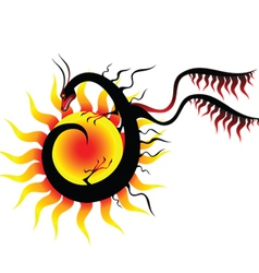 Dragon sun vector