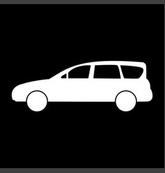 Family car icon vector