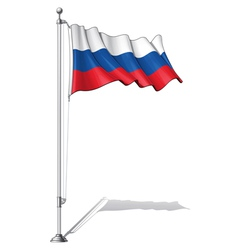 Flag Pole Russia vector image vector image