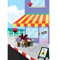 flower shop open vector image