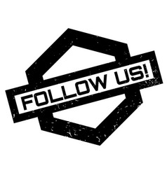 Follow us rubber stamp vector