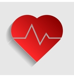 Heartbeat sign vector image