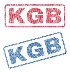 Kgb textile stamps vector