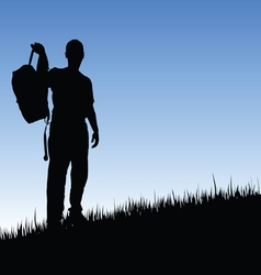 man in nature vector image vector image