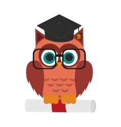 Owl cartoon icon vector