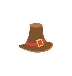 Pilgrim hat flat isolated vector