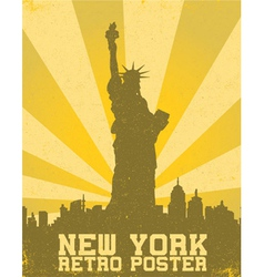 retro new york background vector image vector image