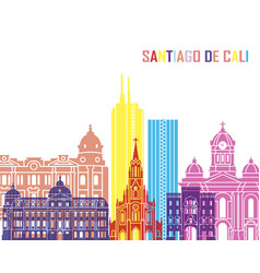 Santiago de cali skyline pop vector