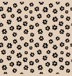 Seamless pattern with dirty dog or wolf paw vector