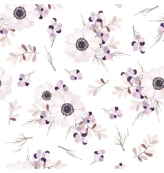 Seamless pattern with flower bouquet vector