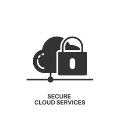 Secure cloud services icon vector
