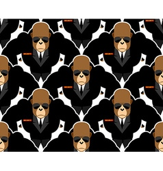 Security guard monkey seamless pattern Bodyguards vector image vector image