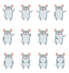 Set of flat mouse icons vector image