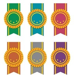 set of ribbon badges vector image
