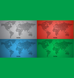 set of world map pcb design vector image vector image