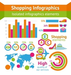 Shopping infographic set vector image