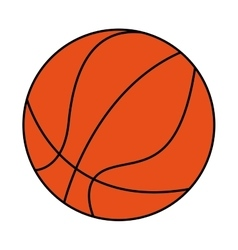 basketball sport ball equipment icon vector image