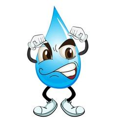 a water drop vector image