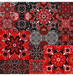 Seamless floral patchwork pattern vector