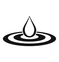 Water drop and spill icon simple style vector
