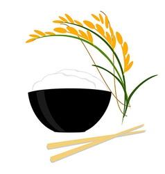 Rice bowl vector image