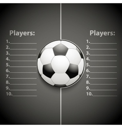 Statistics template of football vector
