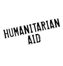 Humanitarian aid rubber stamp vector