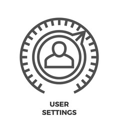 User settings line icon vector