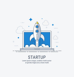 Startup for web vector