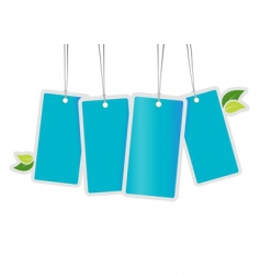 tags with leafs vector image