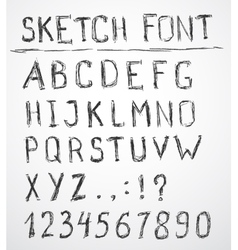 Hand drawn sketch alphabet vector