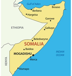 Federal republic of somalia - map vector