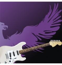 purple eagle vector image