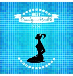 Woman relax silhouette vector image