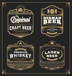 Vintage frame design for labels banner vector