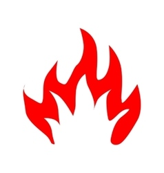 Fire flames silhouette vector