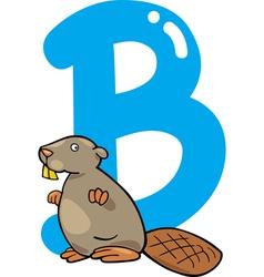 B for beaver vector image