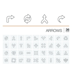 Arrows and direction icons vector