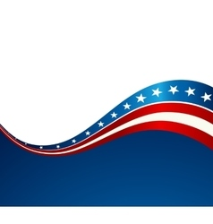 Patriotic wave background vector