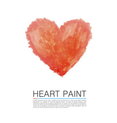 art paint heart vector image vector image