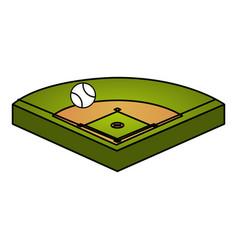 Baseball diamond isolated icon vector