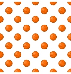 Basketball pattern cartoon style vector