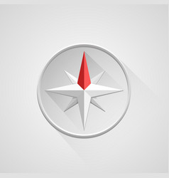 compass 3d object on a white background vector image