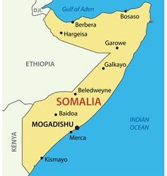 Federal republic of somalia - map vector