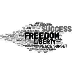 Freedom word cloud concept vector