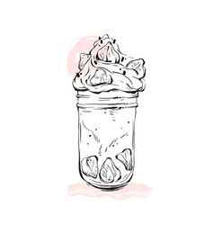 Hand drawn graphic monstershake milkshake vector