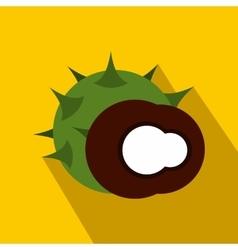 Hazelnut icon in flat style vector