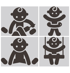 Kids activities icons set vector image